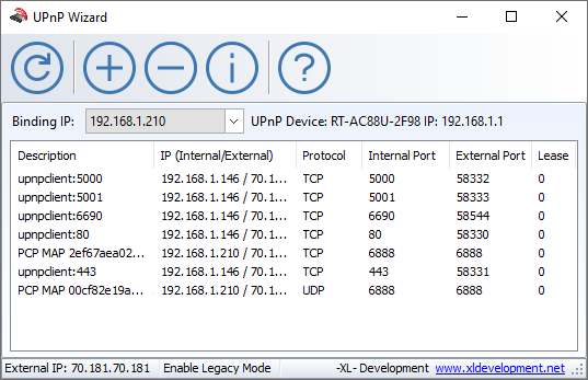 UPnP Wizard Port Mapping Tool